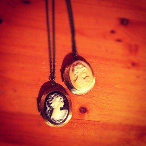 Cameo perfume lockets by Brazen Razor.